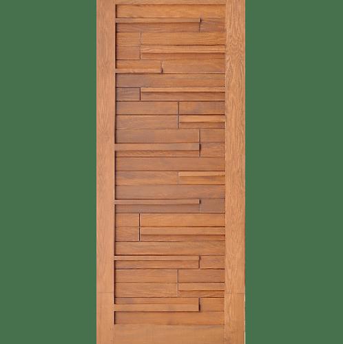 D2D ประตูไม้ดักลาสเฟอร์ เซาะร่อง ขนาด 80x200ซม. Eco Pine-034  สีเบรินแอช