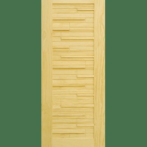 D2D ประตูไม้สนนิวซีแลนด์ บานทึบเซาะร่อง ขนาด 100x240 ซม. D2D-501