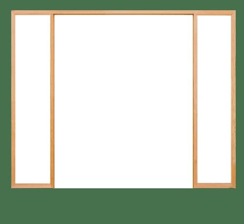 D2D วงกบประตูไม้ดักลาสเฟอร์ ขนาด 90x200 cm. D2D FJ (COM.6)