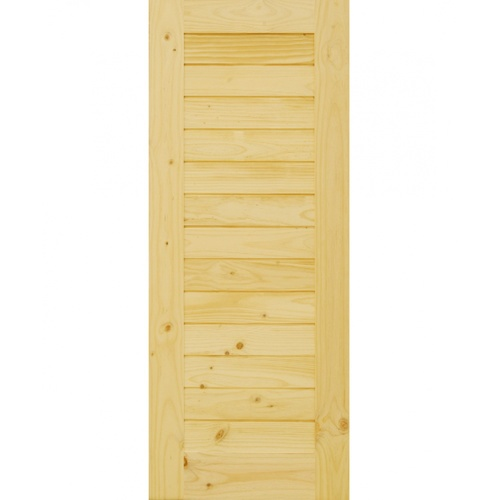 D2D ประตูไม้สนนิวซีแลนด์ ขนาด 90x200 cm.  D2D-103