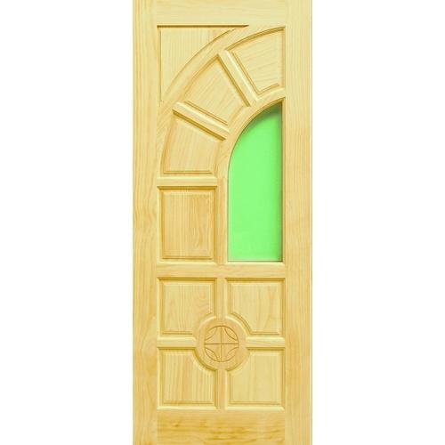 D2D ประตูกระจกไม้สนนิวซีแลนด์ ขนาด 80x200 cm. D2D-405