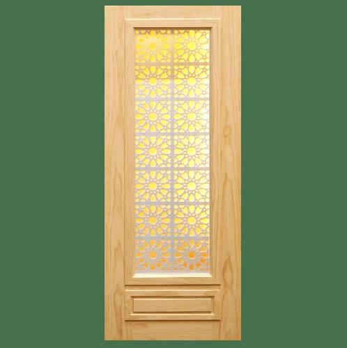 D2D ประตูไม้สนนิวซีแลนด์ ขนาด  90x220 ซม. 601