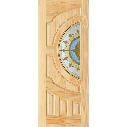 D2D ประตูกระจกไม้สนนิวซีแลนด์ D2D-417  ขนาด100x220cm. D2D-417