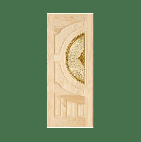 D2D ประตูไม้สนนิวซีแลนด์ ขนาด90x220cm. 417