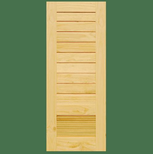 D2D ประตูไม้สนนิวซีแลนด์ ขนาด 70x200cm. D2D-107
