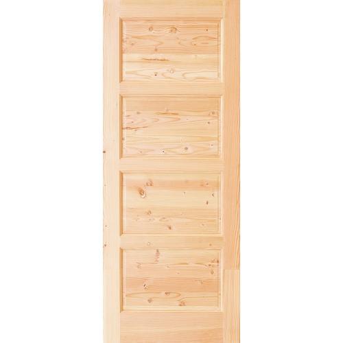 D2D ประตูไม้ดักลาสเฟอร์ ขนาด  80x200cm.  Eco Pine-024