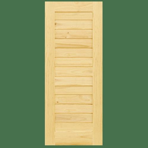 - ประตูไม้สนนิวซีแลนด์ ขนาด 60x130cm. Eco Pine-001