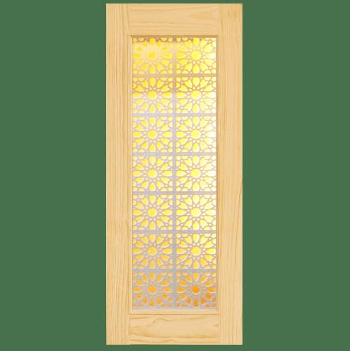 D2D ประตูไม้สนนิวซีแลนด์ขนาด 81x212cm.  D2D-601
