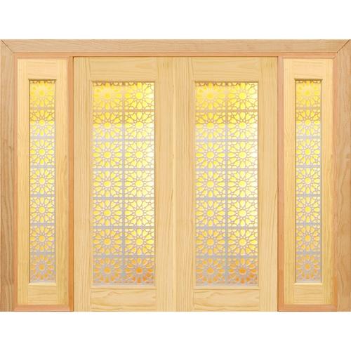 - ประตูไม้สนนิวซีแลนด์ SET 3 ขนาด 90x220 cm. D2D-601