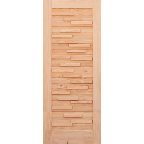 D2D ประตูไม้ดักลาสเฟอร์ขนาด 130x220 cm.  Eco Pine-030