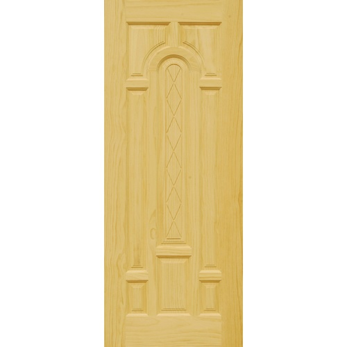 D2D ประตูไม้สนนิวซีแลนด์ ขนาด  90x210 cm. 301