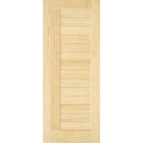 D2D ประตูไม้สนนิวซีแลนด์ขนาด 100x200 cm. 511