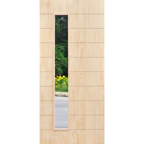 D2D ประตูไม้สนนิวซีแลนด์ ขนาด 90x200cm.ทำสี  D2D-407