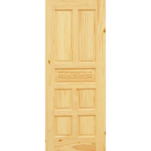 D2D ประตูไม้สนนิวซีแลนด์ ขนาด 100x200cm.  Eco Pine-011