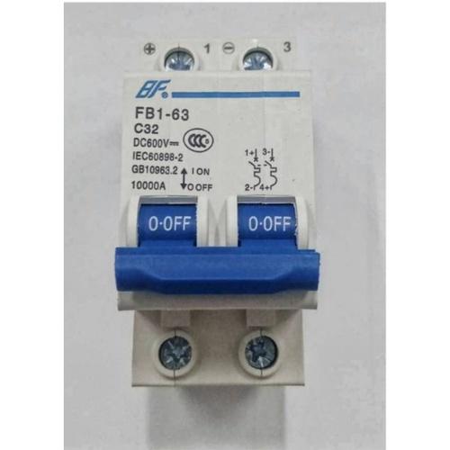 BF เซอร์กิตเบรกเกอร์ DC พร้อมเมน 1P 32A สีฟ้า