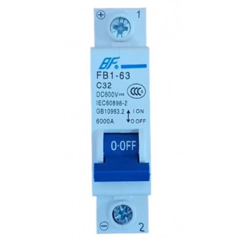 BF เซอร์กิตเบรกเกอร์  FB1-63 DC 1P 32A สีฟ้า