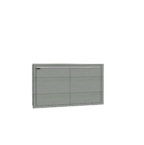 บานซิงค์คู่ทึบตรง (ถังแก๊ส) SAV-S508 -GW สีเทาลายไม้  เทา