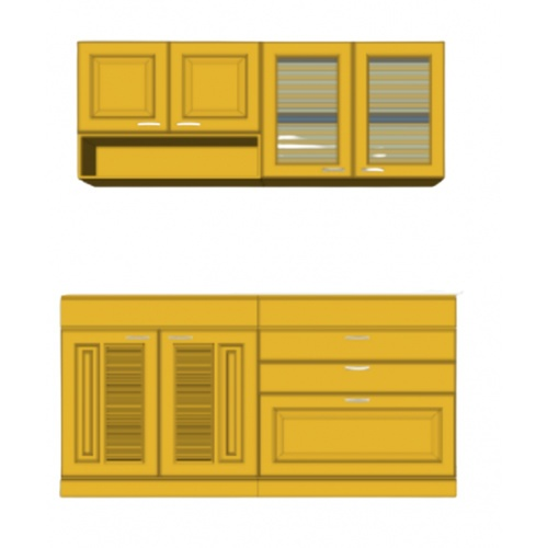 MJ ชุดครัว  SILVER 1.65 ม. สีสัก