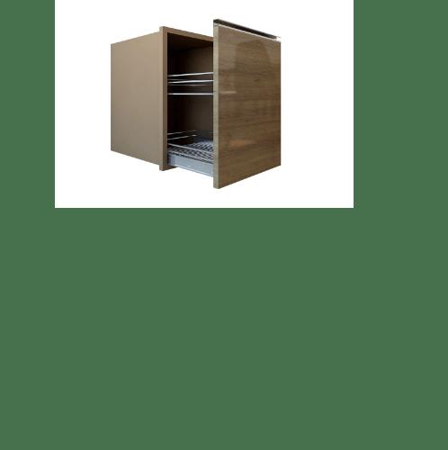 MJ ตู้ลิ้นชักตะแกรง  SAV-F604ST-CA สีคาปูชิโน