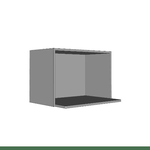 MJ ตู้แขวนเสริม (ไมโครเวฟ) WS406-G สีเทา MJ  ขาว-เทา