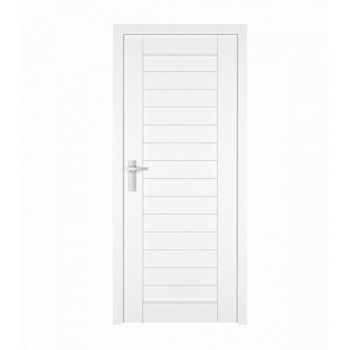 MJ ประตูไม้จริงขนาด 80x200 cm.  A80-WH สีขาว