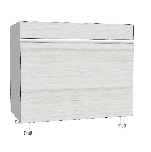 MJ ตู้ตั้งพื้นสำหรับอ่างซิ้งค์ 2 หลุม สีขาว SAV-JWS829 -W