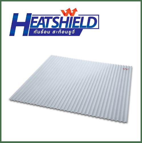 SCG แผ่นโปร่งแสง เอสซีจี ลอนกันสาด รุ่น HEAT-SHIELD 0.12x105x200 สีขาวขุ่น HEAT-SHIELD สีขาว