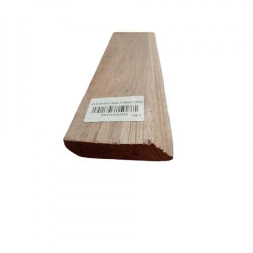 S&P บัวล่างไม้เต็งลาว  ขนาด 15 mm. X 70 mm.x200 cm.