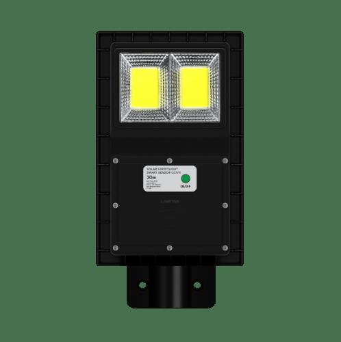 LAMPTAN โคมไฟถนนโซลาร์เซลล์ LED 30W  สมาร์ทเซ็นเซอร์ จีนิกซ์  สีดำ