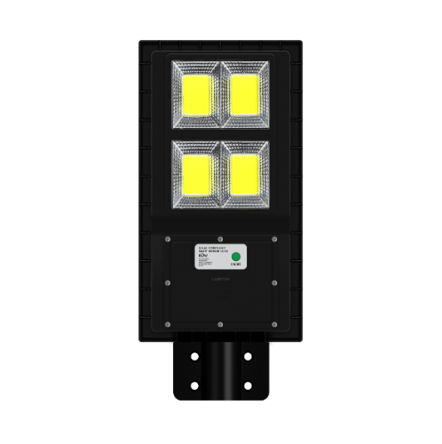 LAMPTAN โคมไฟถนนโซลาร์เซลล์ LED 60W สมาร์ทเซ็นเซอร์ จีนิกซ์  สีดำ