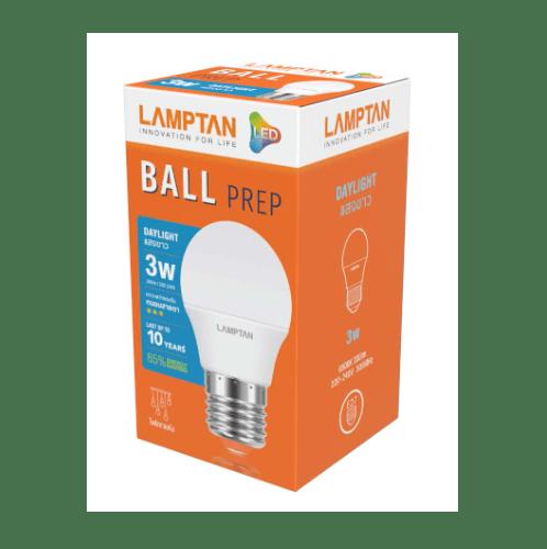 Lamptan หลอดไฟปิงปองแอลอีดี 3W แสงเดย์ไลท์ BALL ขาว