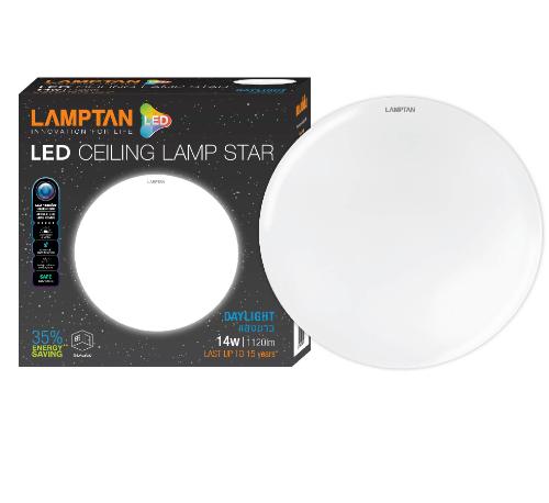 LAMPTAN โคมไฟเพดาน LED 14W STAR แสงเดย์ไลท์ สีขาว