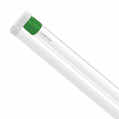 LAMPTAN ชุดราง LED T8 พร้อมหลอด 18W แสงวอร์มไวท์ รุ่นขั้วเขียว Setronic T8 ขั้วเขียว สีขาว