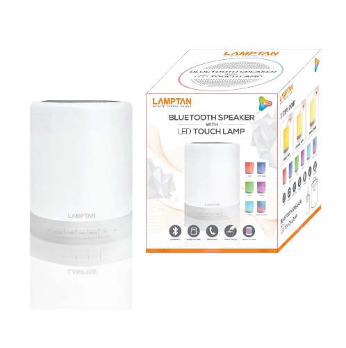 LAMPTAN LED Touch Lamp Bluetooth Speaker  1.6W P.12 สีขาว