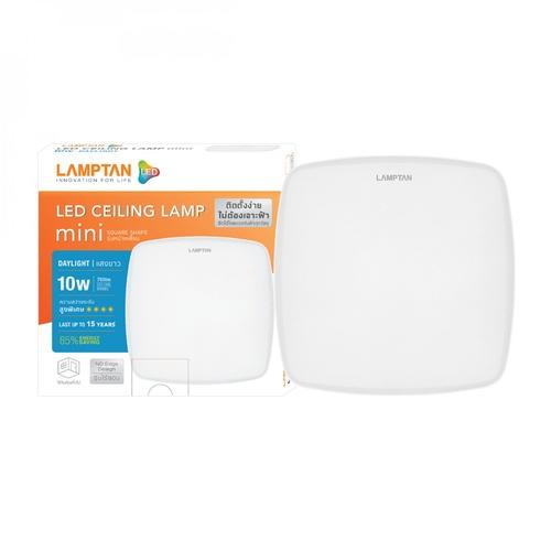 LAMPTAN โคมดาวน์ไลท์ติดลอย LED 10W หน้าเหลี่ยม แสงเดย์ไลท์ รุ่นมินิ Ceiling Light Mini สีขาว