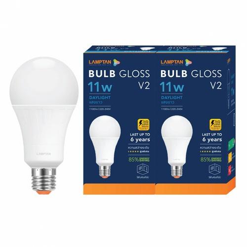 LAMPTAN หลอดไฟ LED BULB 11W แสงเดย์ไลท์ รุ่น GLOSS V2 E27 P.2 GLOSS V2 สีขาว