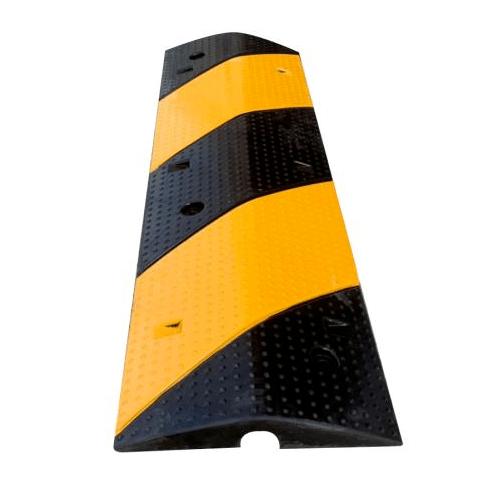 Protx ยางชะลอความเร็วแบบร้อยสายไฟ 1 ช่อง 100x30x5Cm.  สีดำ-เหลือง PQS-OBC121