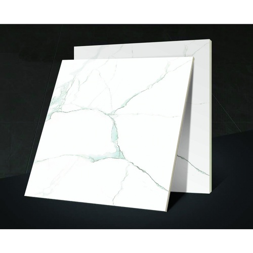 Marbella 16x16 กระเบื้องปูพื้น โนร่าไวท์ DJ002 (Glossy) (12P) A. สีขาว