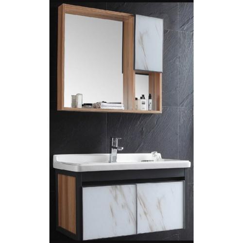 VERNO ชุดเคาน์เตอร์อ่างล้างหน้าแบบแขวน  +กระจกเคาน์เตอร์  1008-80 สีขาว