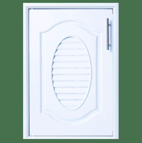 Polywood บานซิงค์เดี่ยว M-SERIES สีขาว ขนาด 45.5x65.5 cm.   M-11 สีขาว