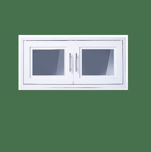 Polywood ตู้แขวนเสริม นาด 86x41x34 cm.  M-SERIES TW สีขาว