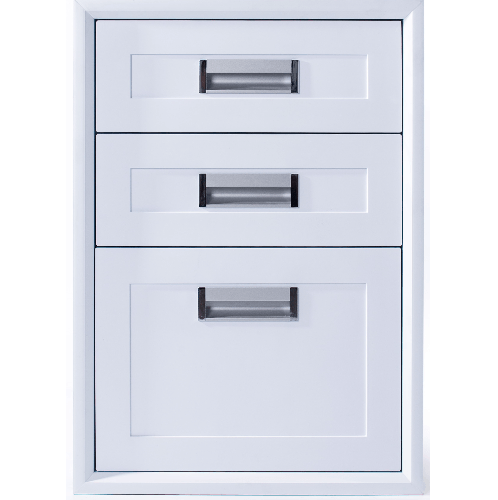 Polywood ตู้ลิ้นชัก 3 ชั้น ขนาด 45.5x65.5x50 cm.   M-SERIES TW สีขาว