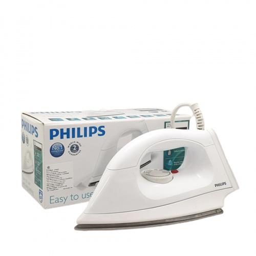 PHILIPS เตารีดแห้ง 1000วัตต์ HI108 สีขาว