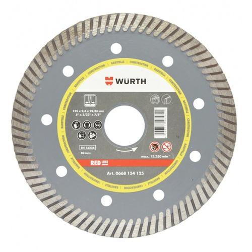WUERTH ใบเพชรตัดคอนกรีตเทอร์โบ  D105 มล. (4นิ้ว)