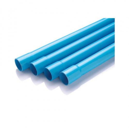 Power Plus ท่อพีวีซี(5) 2 1/2 นิ้ว บานหัว  สีฟ้า