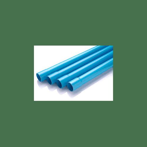 Power Plus ท่อพีวีซี 2 นิ้ว ชั้น 5  ปลายบาน สีฟ้า