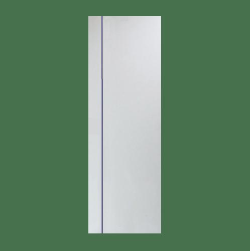 PEOPLE ประตู UPVC เซาะร่องน้ำเงิน 70x200 cm. (ไม่เจาะ)  MG1 สีขาว