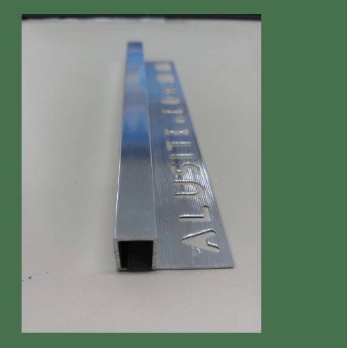 Alusite คิ้วอลูมิเนียมแบบเหลี่ยม 10 มม. ยาว 2 เมตร TSAP100 สีเงินเงา Alusite TSAP100 Bright Silver.Alusite