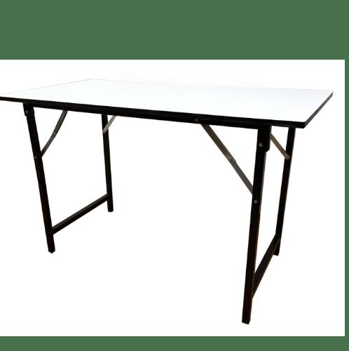 KPC โต๊ะเอนกประสงค์  หน้าขาว ขนาด 60x120x75cm.