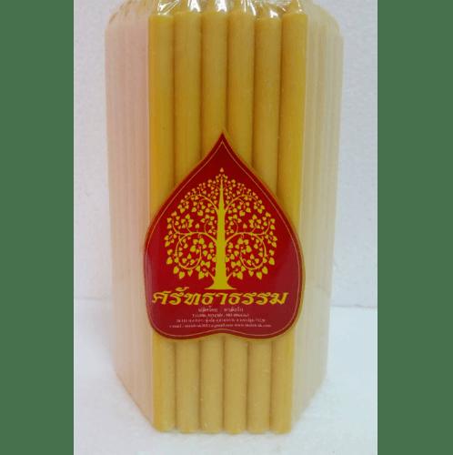 ศรัทธาธรรม เทียนห่อเบอร์ 10 (51เล่ม/แพ็ค) สีเหลือง - สีเหลือง